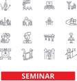 conference workshop presentation meeting vector image