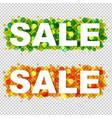 sale design text vector image