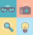 linear set of graphic designer tools icons vector image vector image