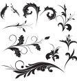 floral ornament elements vector image vector image