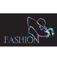 fashion logo vector image vector image
