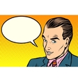 businessman says comic book bubble vector image