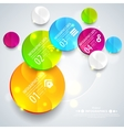 Abstract business geometrical design with paper vector image
