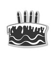 Birthday cake and desserts theme design vector image