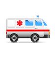 Ambulance isolated on white vector image