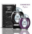 black and purple perfume bottle set collection vector image