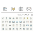 electronics and multimedia color icons vector image