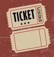 grunge ticket vector image