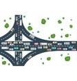 Highway road view vector image