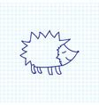 of zoology symbol on hedgehog vector image