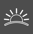 sun icon sunset icon flat icon of sun sun eps vector image