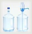 Two big bottle vector image