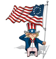 Uncle Sam Saluting the Betsy Ross Flag vector image
