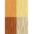 Wooden texture set vector image