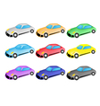 Colorful Set of Sports Car Icon vector image