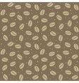 seamless coffee seed texture vector image