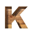 wooden cutted figure k Paste to any background vector image
