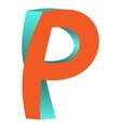 Twisted Letter P Logo Icon Design Template Element vector image