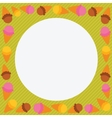 Cute cartoon ice cream character frame vector image