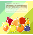 fruit text vector image