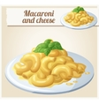Macaroni and cheese Detailed Icon vector image