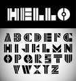 modern font vector image