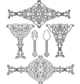 Ornate abstract silhouettes vector image