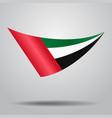 united arab emirates flag background vector image