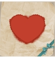 Vintage heart and bow Valentines day EPS 10 vector image