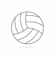 volleyball ball with shadow isolated on white vector image