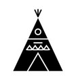 wigwam - decorated icon vector image