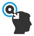 Brain Interface Plug-In Flat Icon vector image