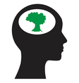 Man and tree vector image vector image