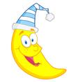 Happy Moon Mascot Cartoon Character vector image vector image