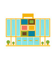 weird minimalistic colorful shopping mall modern vector image