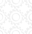 Paper white gears with thick side vector image