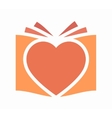heart and book logo vector image vector image