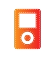 Portable music device Orange applique isolated vector image
