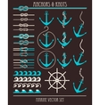 Anchors and knots vector image