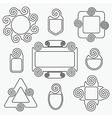 black retro line spiral icons design elements set vector image