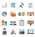 Color Icons For Elections Voting vector image