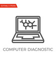 computer diagnostic icon vector image