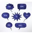 Ink speech bubbles vector image