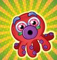 Rainbow Octopus Cartoon Character vector image