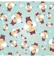 Seamless pattern with Cupid vector image