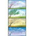 Season landscapes vector image