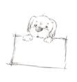 sketch of a dog vector image