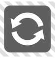 Refresh Rounded Square Button vector image
