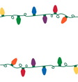 Christmas lights seamless string vector image vector image