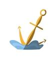 anchor maritime nautical sea shadow vector image